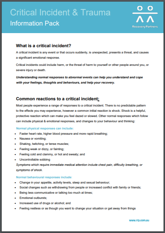 Critical Incident and trauma